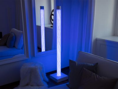 Glaszone Floor Lamp Crystal with blue-white RGB-lighting