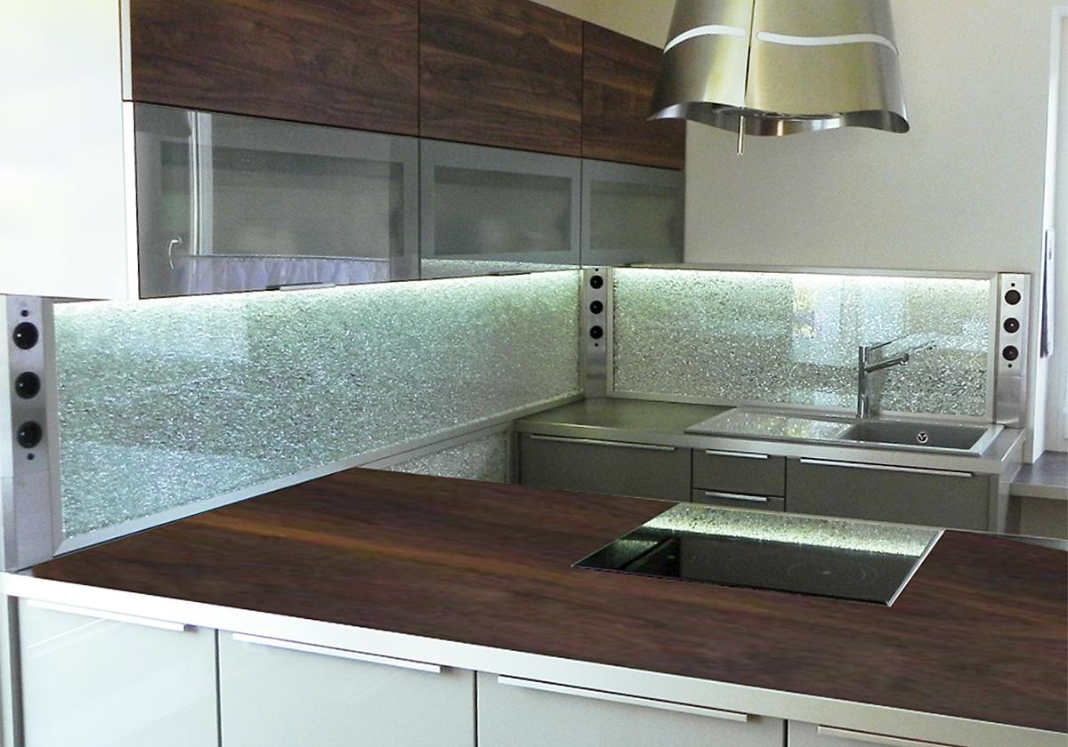 Küchenrückwand: etwas Besonderes individuell gefertigt - GLASZONE