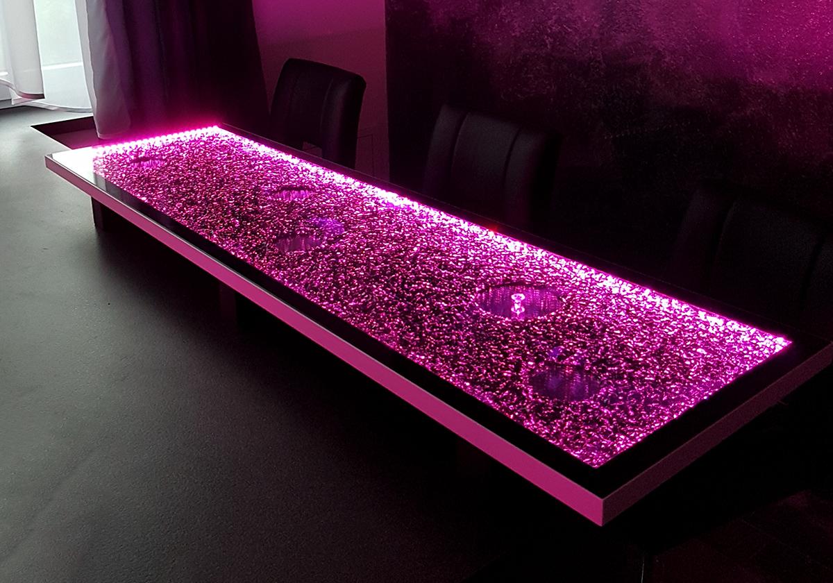 Kuchenruckwand Led Licht Dimmen Farben Wechseln Glaszone