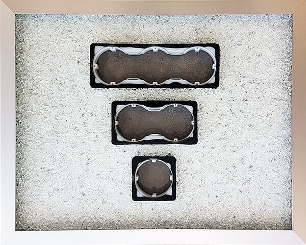 Glaszone Kitchen Splashback place for 1, 2, 3 for power sockets